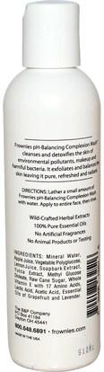 الجمال، العناية بالوجه، منظفات الوجه Frownies, pH-Balancing Complexion Wash, 4 oz (118 ml)