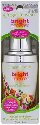 الجمال، العناية بالوجه Physicians Formula, Inc., Organic Wear, Bright Booster, Oil Elixir, 1.0 fl oz (30 ml)