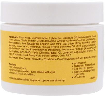 الجمال، العناية بالوجه، سيرا النحل كريمات الجلد، مانوكا العسل العناية بالبشرة Sierra Bees, Calendula, Soothing Skin Cream, 2 oz (60 g)