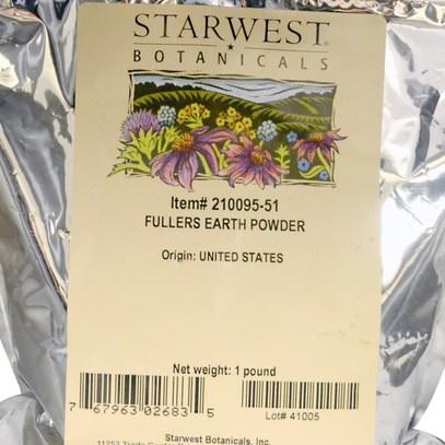 الجمال، أقنعة الوجه، أقنعة الطين، الصحة، ديتوكس، كلاي Starwest Botanicals, Fullers Earth Powder, 1 lb (453.6 g)