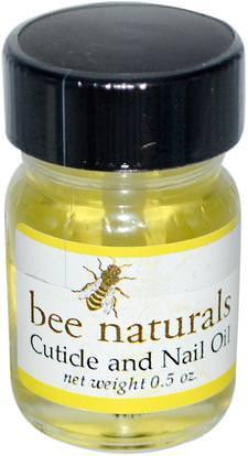 Bee Naturals, Cuticle and Nail Oil, 0.5 oz ,حمام، الجمال، زيوت العناية بالأظافر، النحل الأصلي الطبيعية