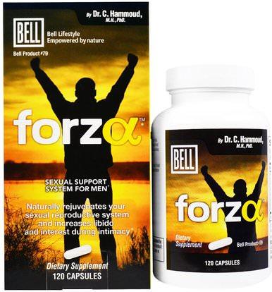 Bell Lifestyle, Forza, Sexual Support System for Men, 120 Capsules ,الصحة، الرجال، بيل، النمط للحياة الرجال