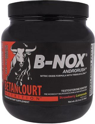 Betancourt, B-Nox Androrush, Strawberry Lemonade, 22.3 oz (1.3 lbs) ,والرياضة، تجريب، مشروبات الطاقة مزيج