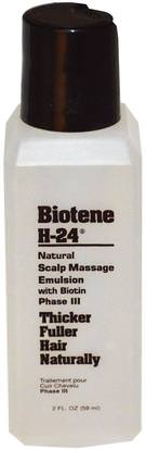 Biotene H-24, Natural Scalp Massage Emulsion, with Biotin, Phase III, 2 fl oz (59 ml) ,حمام، الجمال، دقة بالغة، فروة الرأس