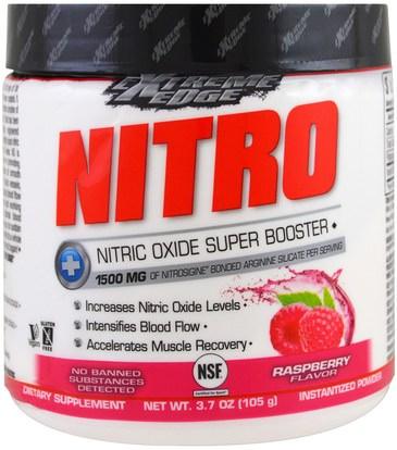 Bluebonnet Nutrition, Extreme Edge, Nitro, Raspberry Flavor, 3.7 oz (105 g) ,والرياضة، تجريب