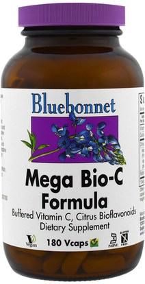 Bluebonnet Nutrition, Mega Bio-C Formula, 180 Vcaps ,الفيتامينات، فيتامين ج