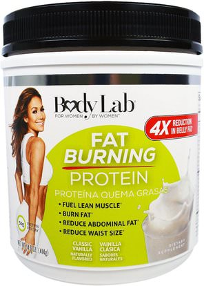 BodyLab, Fat Burning Protein, Classic Vanilla, 14.6 oz (414 g) ,المكملات الغذائية، البروتين، حرق الدهون
