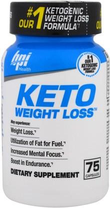BPI Sports, Keto Weight Loss, 75 Capsules ,الغذاء، كيتو ودية، 7-كيتو
