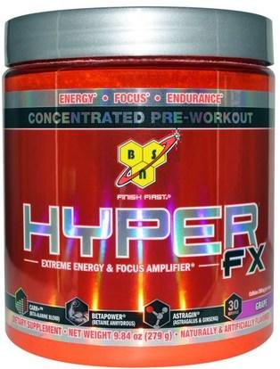 BSN, Hyper FX, Extreme Energy & Focus Amplifier, Grape, 9.84 oz (279 g) ,والصحة، والطاقة، والرياضة، تجريب