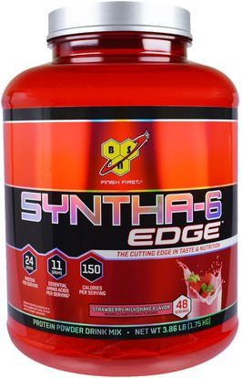 BSN, Syntha-6 Edge, Protein Powder Drink Mix, Strawberry Milkshake Flavor, 3.86 lb (1.75 kg) ,Herb-sa