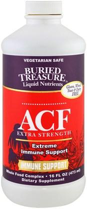 Buried Treasure, ACF Extra Strength, Extreme Immune Support, 16 fl oz (473 ml) ,والصحة، والانفلونزا الباردة والفيروسية، ونظام المناعة