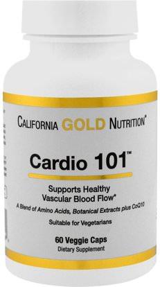 California Gold Nutrition, CGN, Targeted Support, Cardio 101, 60 Veggie Capsules ,كغن الظروف 101، المكملات الغذائية، ل كارنيتين