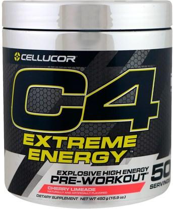 Cellucor, C4 Extreme Energy, Pre-Workout, Cherry Limeade, 15.9 oz (450 g) ,والصحة، والطاقة، والرياضة