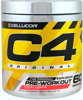 Cellucor, C4 Original Explosive, Pre-Workout, Cherry Limeade, 12.7 oz (360 g) ,والصحة، والطاقة، والرياضة