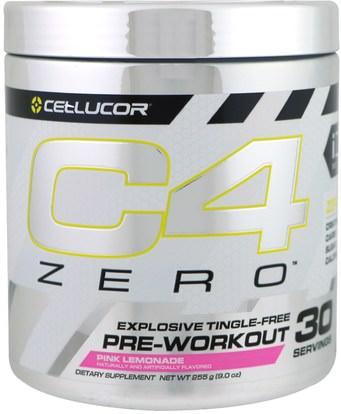 Cellucor, C4 Zero, Pre-Workout, Pink Lemonade, 9.0 oz (255 g) ,والرياضة، تجريب