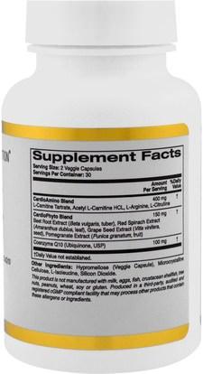 كغن الظروف 101، المكملات الغذائية، ل كارنيتين California Gold Nutrition, CGN, Targeted Support, Cardio 101, 60 Veggie Capsules
