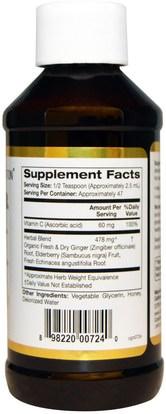 كغن نظام المناعة، والصحة، ونظام المناعة California Gold Nutrition, CGN, Zingiber Immune, Ginger + Sambucus + Echinacea, Alcohol Free, 4 fl oz (118 ml)