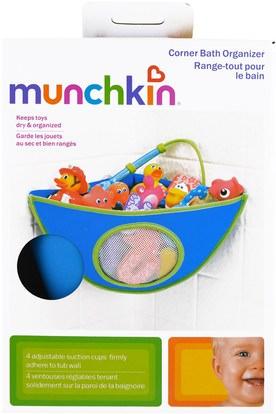 الأطفال الصحة، الطفل، الأطفال، أطفال اللعب، حمام اللعب Munchkin, Corner Bath Organizer, 1 Piece