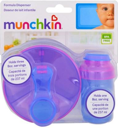 الأطفال الصحة، الطفل، الأطفال، اكسسوارات السفر للطفل، أطفال الأطعمة Munchkin, Powdered Formula Dispenser Combo Pack, 2 Pack