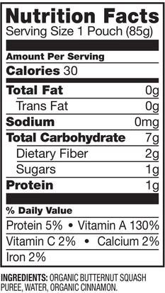 صحة الطفل، تغذية الطفل، الغذاء، أطفال الأطعمة Plum Organics, Organic Baby Food, Stage 1, Just Butternut Squash with Cinnamon, 3 oz (85 g)