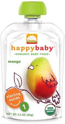 صحة الطفل، تغذية الطفل، الغذاء Nurture Inc. (Happy Baby), Organic Baby Food, Stage 1, Mango, 3.5 oz (99 g)