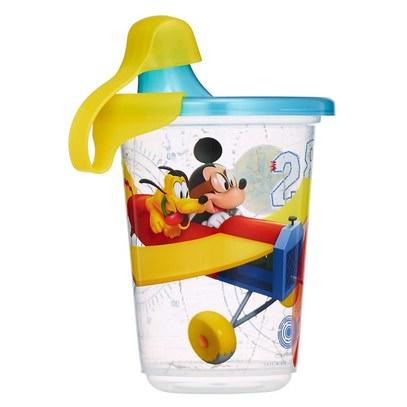 صحة الطفل، تغذية الطفل، سيبي الكؤوس The First Years, Disney Mickey Mouse, Take & Toss Sippy Cups, 9+ Months, 3 Pack - 10 oz (296 ml)