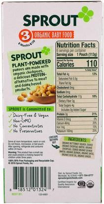 صحة الطفل، تغذية الطفل Sprout Organic, Baby Food, Stage 3, Butternut Chickpea, Quinoa & Dates, 6 Pouches, 4 oz (113 g) Each