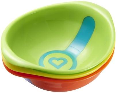 صحة الأطفال، منتجات الأطفال والرضع، أدوات المطبخ، ملاعق السكاكين شوكة Munchkin, White Hot Bowls, 3 Pack