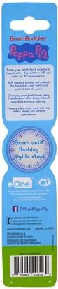 صحة الطفل، ورعاية الطفل عن طريق الفم Brush Buddies, Peppa Pig Toothbrush, With Timer, Soft, 1 Toothbrush