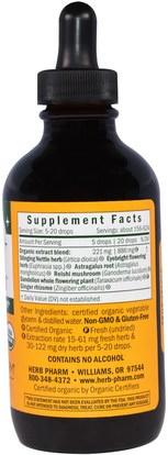 صحة الأطفال، العلاجات العشبية للأطفال Herb Pharm, Kids Sinus Samurai, Alcohol Free, 4 fl oz (120 ml)