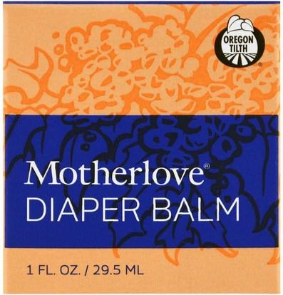 صحة الطفل، حفاضات، كريمات حفاضات Motherlove, Diaper Balm, 1 oz (29.5 ml)