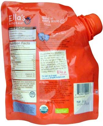 صحة الأطفال، أغذية الأطفال، تغذية الطفل، حبوب الأطفال Ellas Kitchen, Wakey Wakey Mango, Banana + Strawberry Multigrain Baby Cereal, Stage 2, 5.3 oz (150 g)