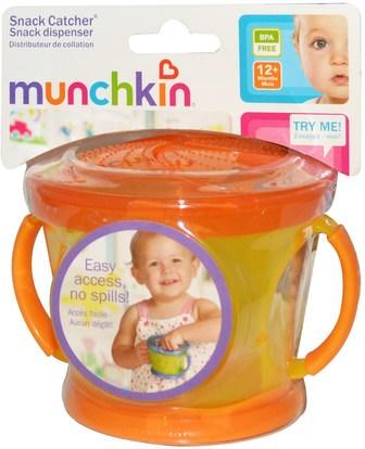 صحة الأطفال، أغذية الأطفال، تغذية الطفل والتنظيف Munchkin, Snack Catcher, 12+ Months