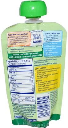 صحة الأطفال، أغذية الأطفال، تغذية الطفل، الغذاء Gerber, 2nd Foods, Organic, Baby Food, Fruit & Grain, Apples, Pears & Apricots with Mixed Grains, 3.5 oz (99 g)