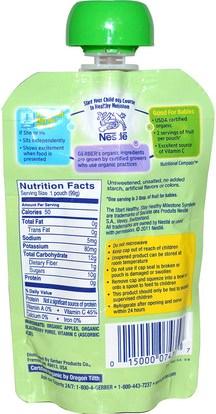 صحة الأطفال، أغذية الأطفال، تغذية الطفل، الغذاء Gerber, 2nd Foods, Organic Baby Food, Apple Blackberry, 3.5 oz (99 g)