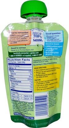 صحة الأطفال، أغذية الأطفال، تغذية الطفل، الغذاء Gerber, 2nd Foods, Organic Baby Food, Fruit & Grain, Pear Peach Oatmeal, 3.5 oz (99 g)
