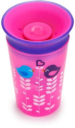 صحة الأطفال، والأغذية للأطفال Munchkin, Miracle 360, Tasse Sippy Cup, 12+ Months, 9 oz (266 ml)
