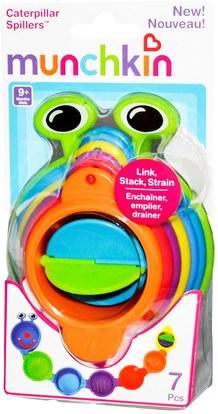 أطفال صحة، أطفال اللعب، حمام اللعب Munchkin, Caterpillar Spillers, 9+ Months, 7 Pieces