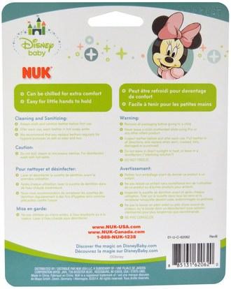 الأطفال الصحة، لعب الأطفال، التسنين اللعب NUK, Disney Baby, Minnie Mouse Teether, 3+ Months, 1 Teether