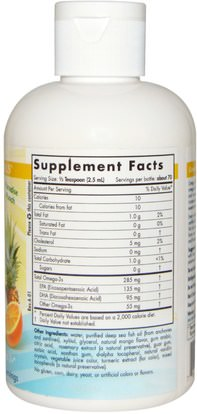 صحة الأطفال، مكملات الأطفال Nordic Naturals, Omega Boost Junior, Paradise Punch, 6 fl oz (178 ml)