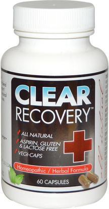 Clear Products, Clear Recovery, 60 Capsules ,المكملات الغذائية، المثلية، الصحة