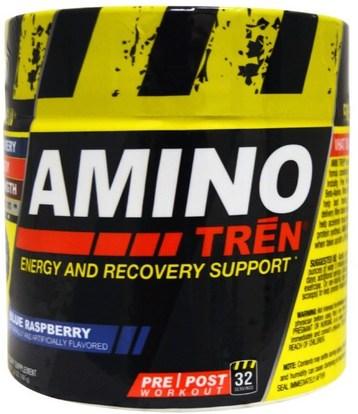 Con-Cret, Amino Tren, Energy and Recovery Support, Blue Raspberry, 5.8 oz (164 g) ,الرياضة، تجريب، الرياضة