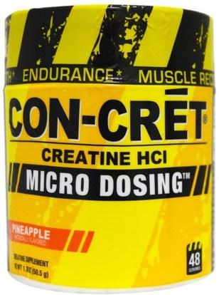 Con-Cret, Creatine HCl, Micro Dosing, Pineapple, 1.78 oz (50.5 g) ,والرياضة، ومسحوق الكرياتين، والرياضة