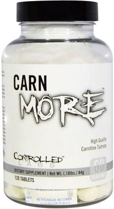 Controlled Labs, CarnMore, 120 Tablets ,المكملات الغذائية، والأحماض الأمينية، ل كارنيتين، ل كارنيتين طرطرات