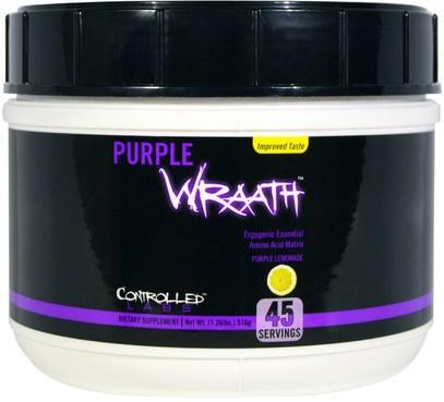 Controlled Labs, Purple Wraath, Purple Lemonade, 1.26 lbs (576 g) ,والرياضة، تجريب، المكملات الابتنائية