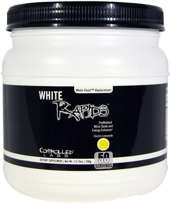 Controlled Labs, White Rapids, Electric Lemonade, 13.76 oz (390 g) ,الرياضة، تجريب، أكسيد النيتريك