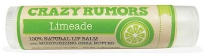 Crazy Rumors, 100% Natural Lip Balm, Limeade, 0.15 oz (4.4 ml) ,حمام، الجمال، العناية الشفاه، بلسم الشفاه