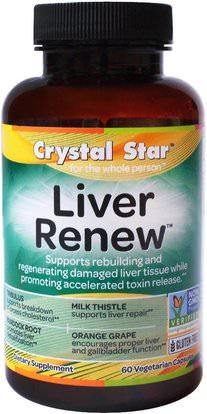 Crystal Star, Liver Renew, 60 Veggie Caps ,والصحة، ودعم الكبد