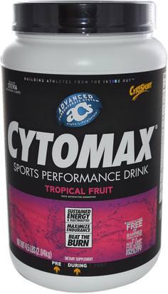 Cytosport, Inc, CytoMax, Sports Performance Drink, Tropical Fruit, 4.5 lbs (2.04 kg) ,والرياضة، تجريب، بالكهرباء شرب التجديد