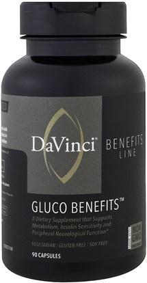 8c9ca0555 DaVinci Benefits, Gluco Benefits, 90 Capsules ,الصحة، نسبة السكر في الدم ...